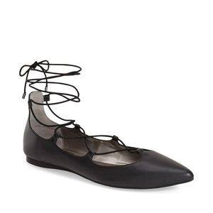 BP ballerina flats with crisscrossed laces